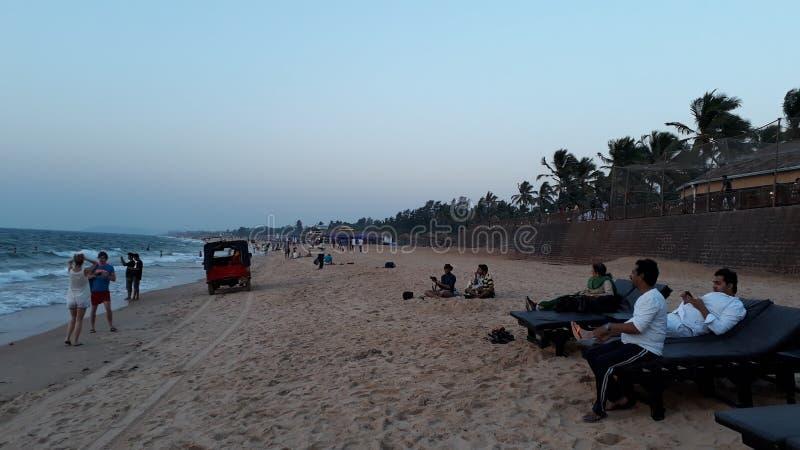 Sinquerim-Strand Goa lizenzfreies stockfoto