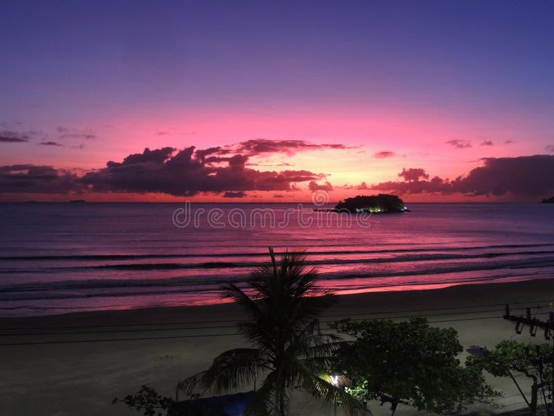 Sinrise пляж ДО РОЖДЕСТВА ХРИСТОВА стоковые фото