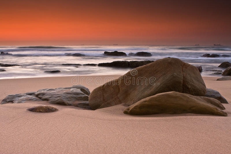 Sinrise rocks stock photography
