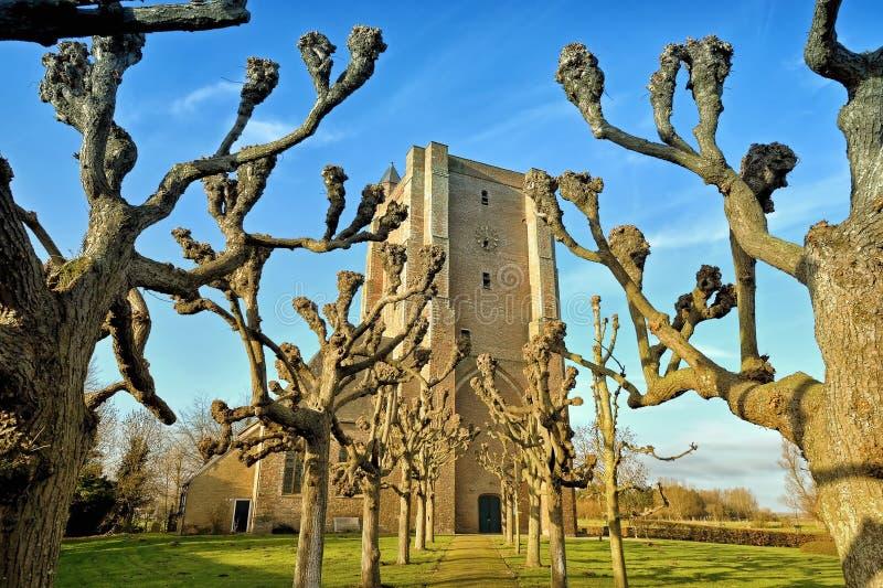 Sint安娜ter Muiden教区教堂在斯勒伊斯的自治市的 免版税库存照片
