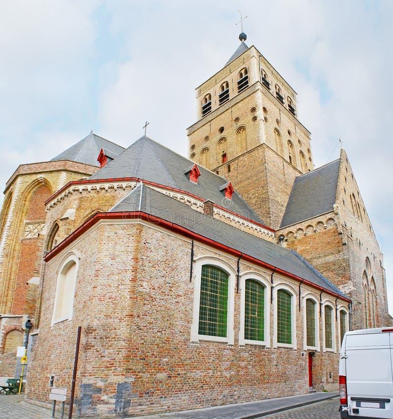 Sint Jakobskerk在布鲁日 免版税库存图片