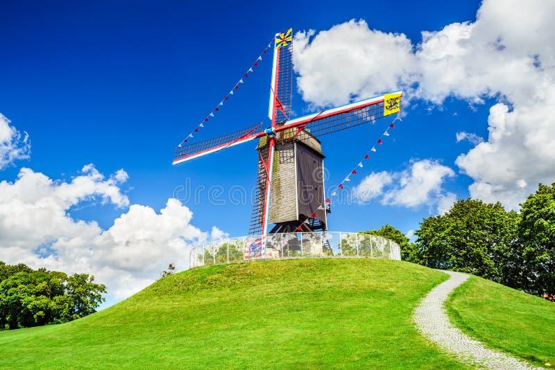 Sint Janshuismolen, Bruges, Belgium stock photos