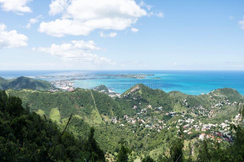 Sint Maarten Aerial foto de archivo libre de regalías