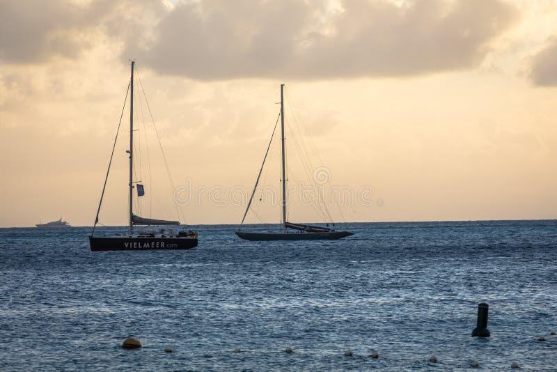 Sint Maarten Bay Harbor foto de archivo libre de regalías