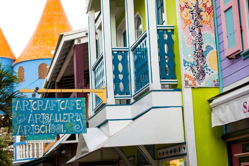 Sint Maarten Downtown imagen de archivo libre de regalías