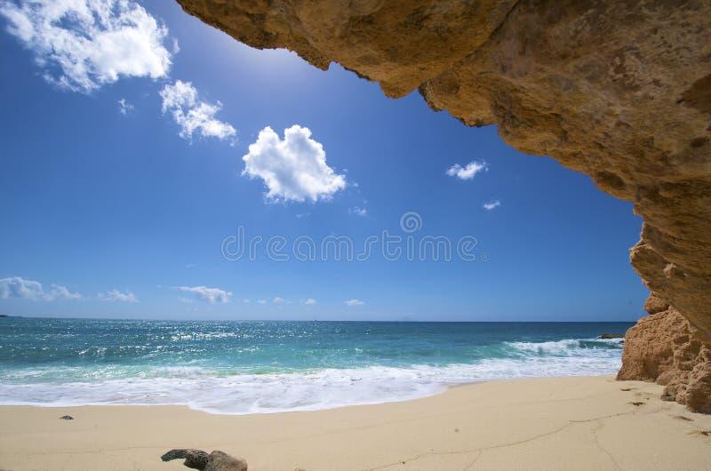 Sint Maarten, playa de Cupecoy foto de archivo