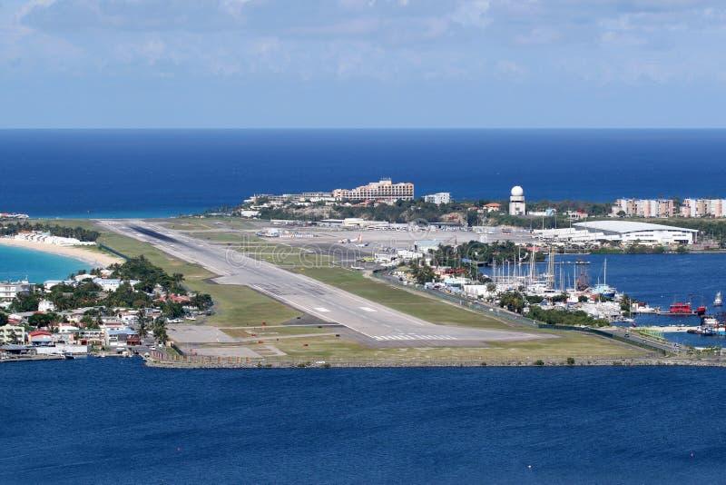 Sint Maarten St Martin Airport Caribbean fotografia stock
