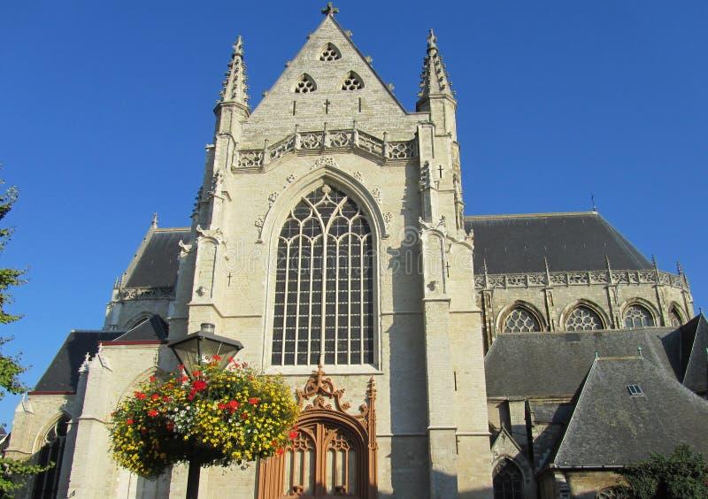 Sint Martín Kerk, Aalst fotos de archivo