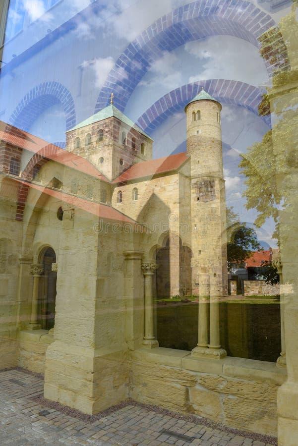 Sint-Michael's kerk bij Hildesheim op Duitsland royalty-vrije stock foto's