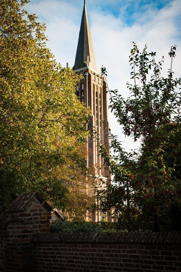 Sint Petrus Bandenkerk lub Big Church Venray, Holandia fotografia royalty free