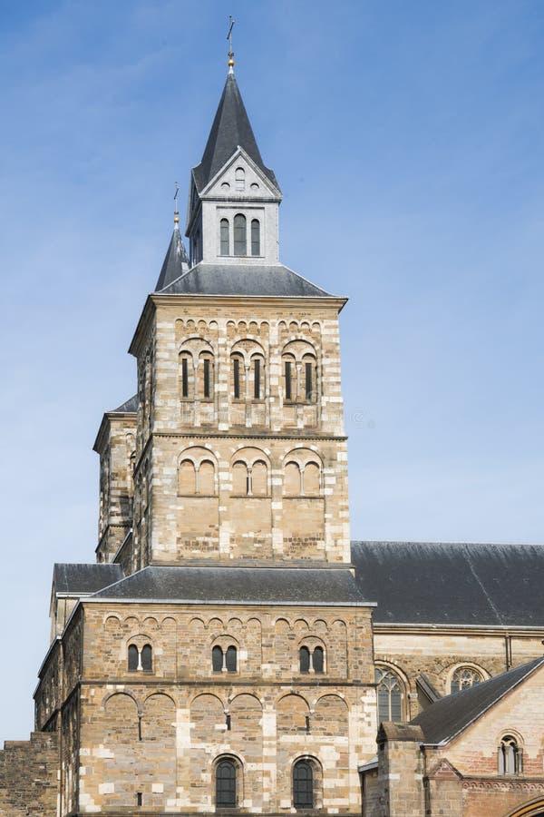 Sint Servaas kyrka, Maastricht, Nederländerna arkivfoto