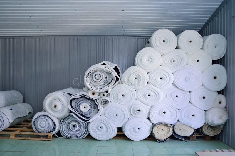 Sintepon Isolatie voor kleding materiaal royalty-vrije stock fotografie