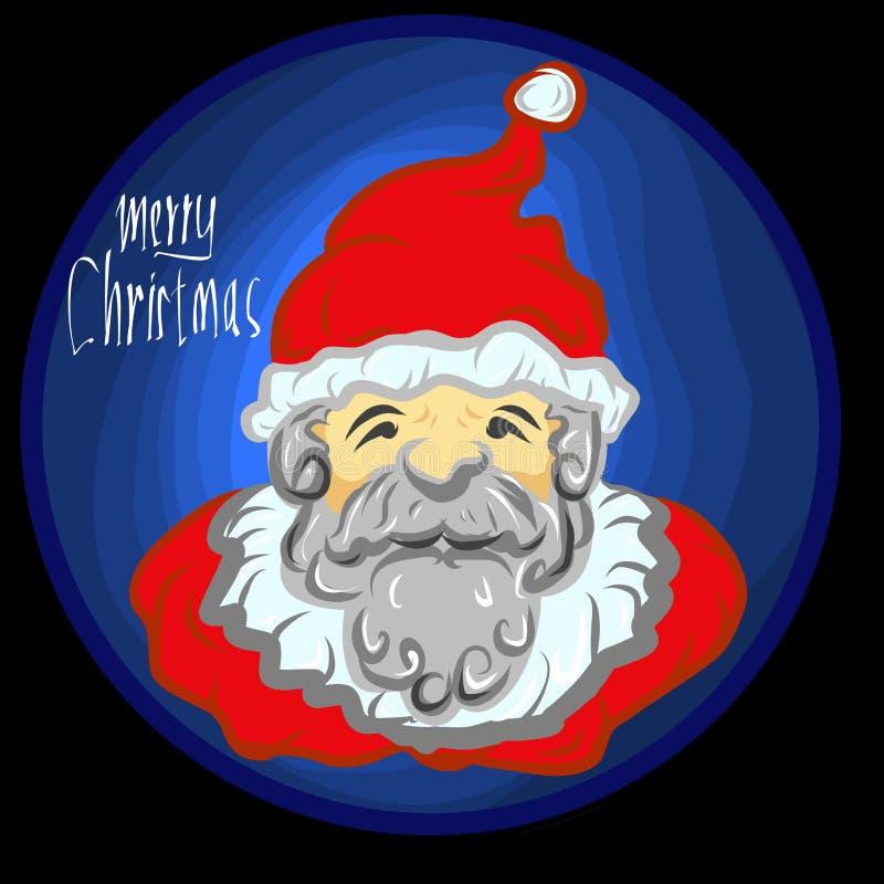 Sinterizzazione Klas di Santa del buon anno di Buon Natale illustrazione di stock