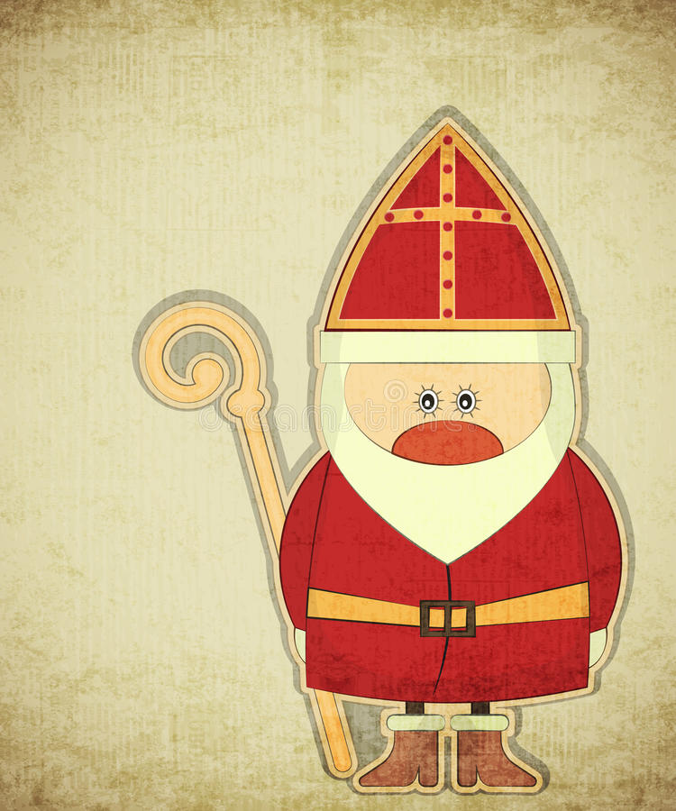 Sinterklaas royaltyfri illustrationer