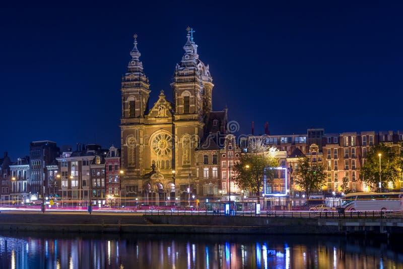 Sinterklaas bij nacht royalty-vrije stock fotografie