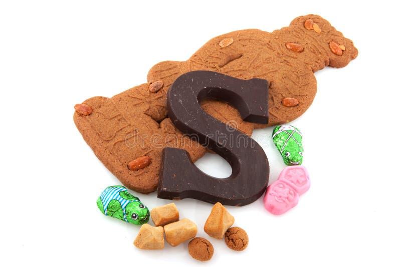 Sinterklaas candy stock photo