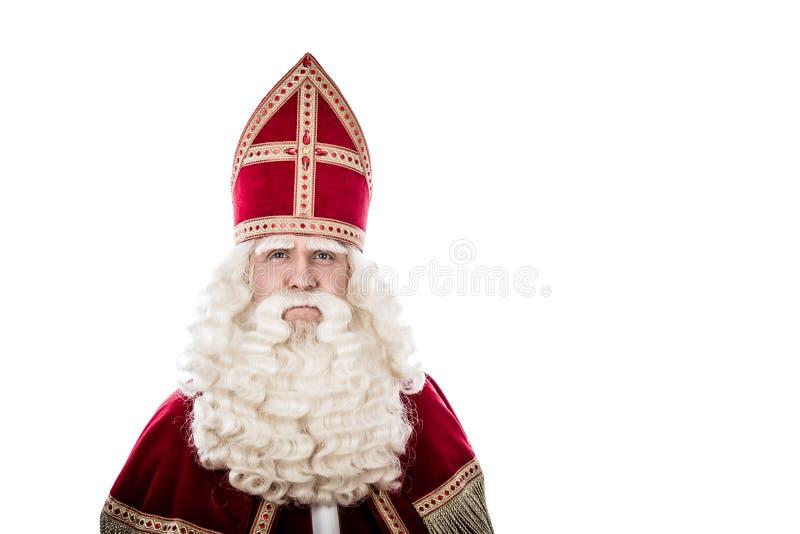 Sinterklaas en el fondo blanco fotografía de archivo