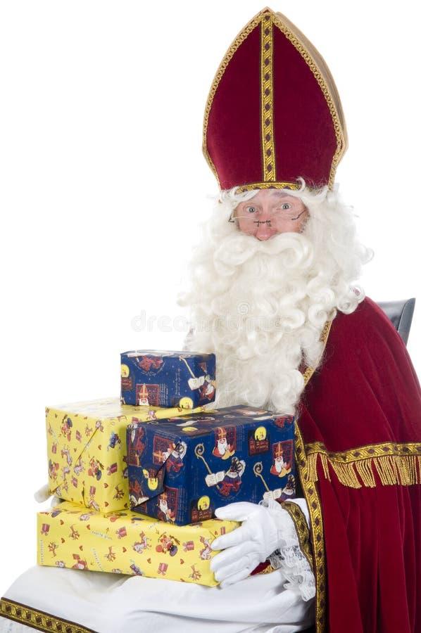 Sinterklaas et présents image libre de droits