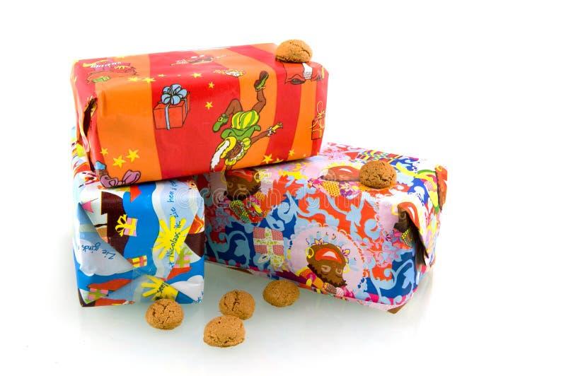 Sinterklaas Geschenke lizenzfreies stockbild