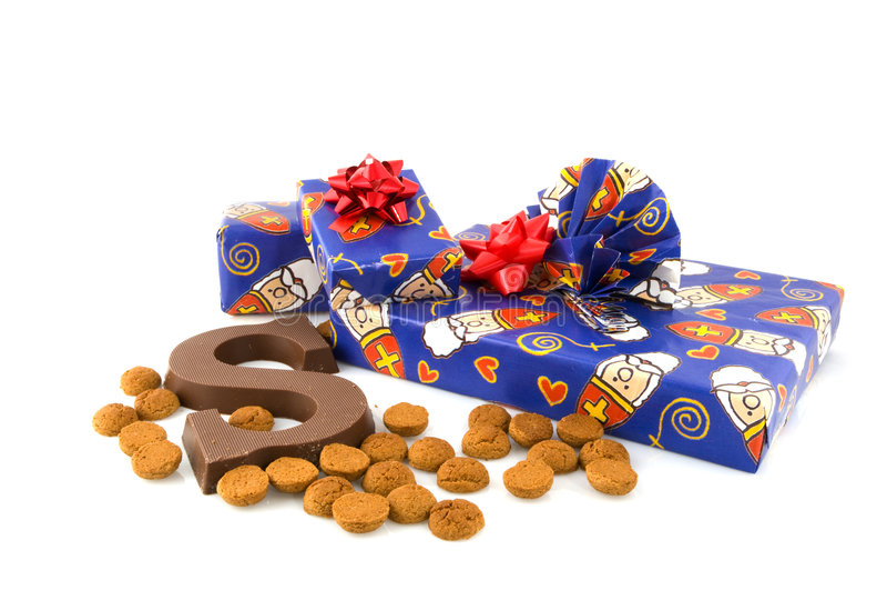 Sinterklaas Geschenke in Holland stockbilder