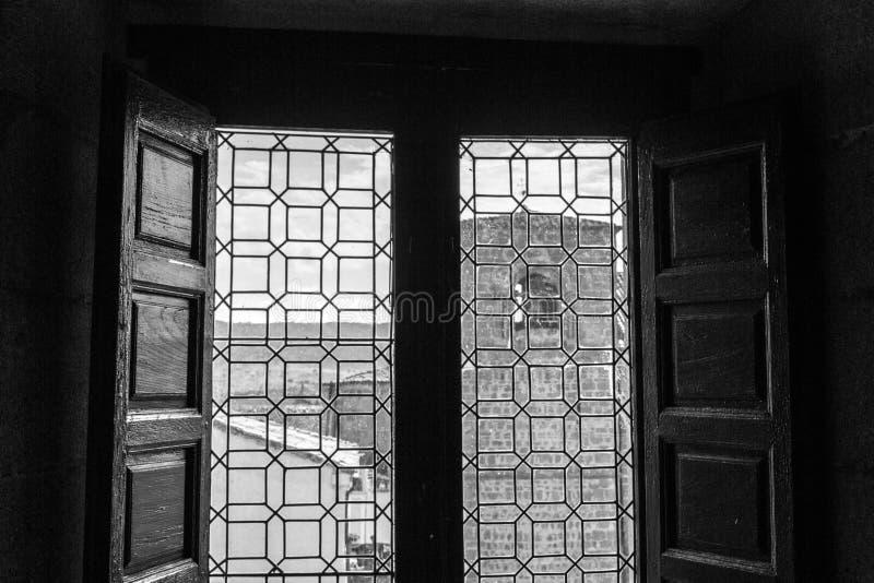 Sinterklaas-kerk in Plasencia (Spanje stock afbeelding