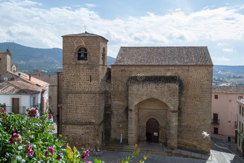 Sinterklaas-kerk in Plasencia (Spanje stock foto