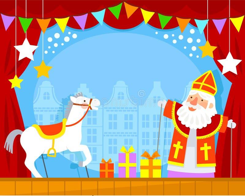 Sinterklaas-Marionetten lizenzfreie abbildung