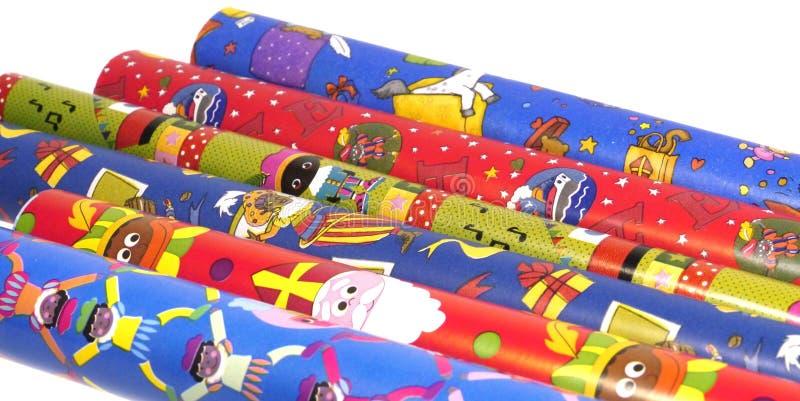 Sinterklaas-Packpapier lizenzfreies stockbild