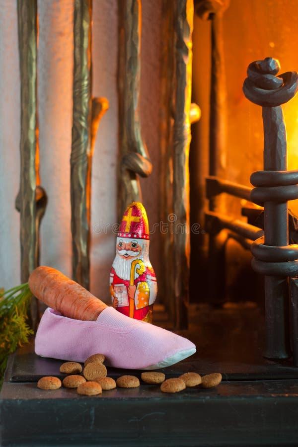 Sinterklaas Schuh stockfotografie