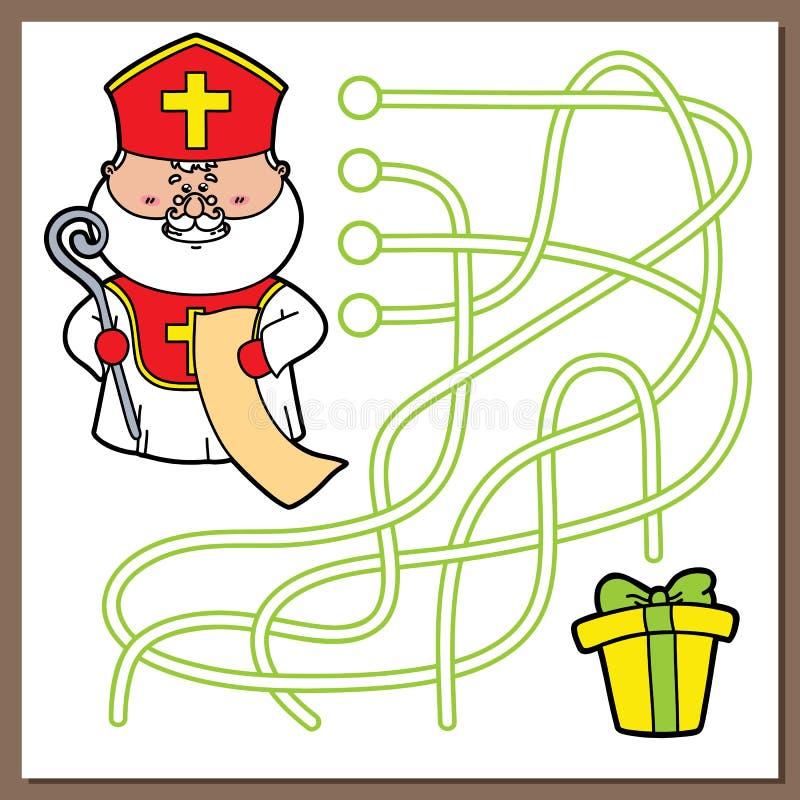 Sinterklaas-spel stock illustratie