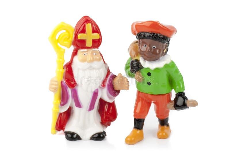 Sinterklaas y Zwarte Piet imagen de archivo libre de regalías