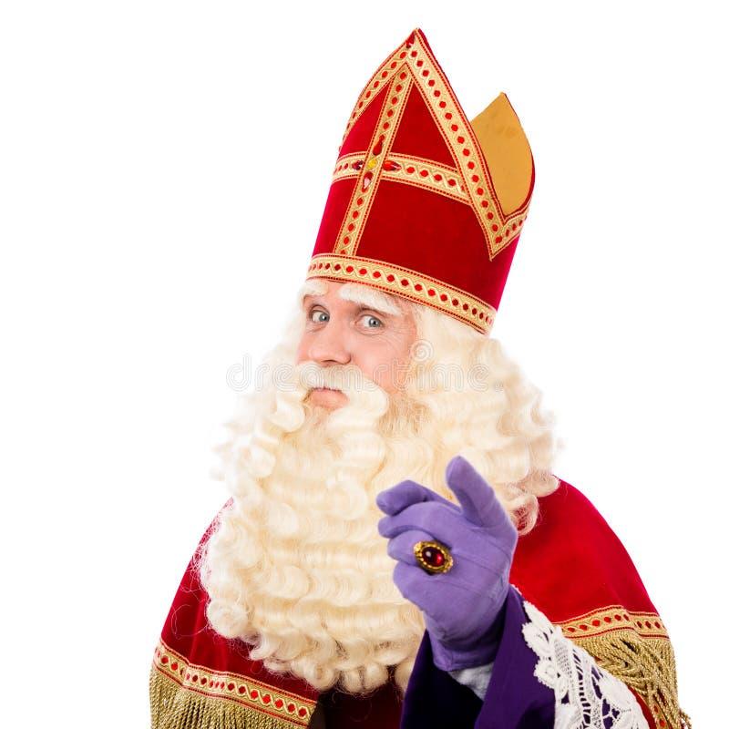 Sinterklaas z wskazywać palec fotografia stock