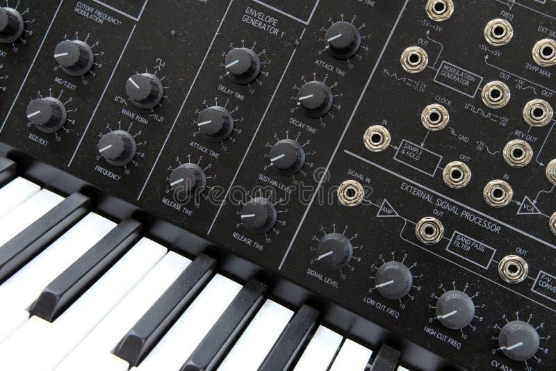 Sintetizador da música imagem de stock