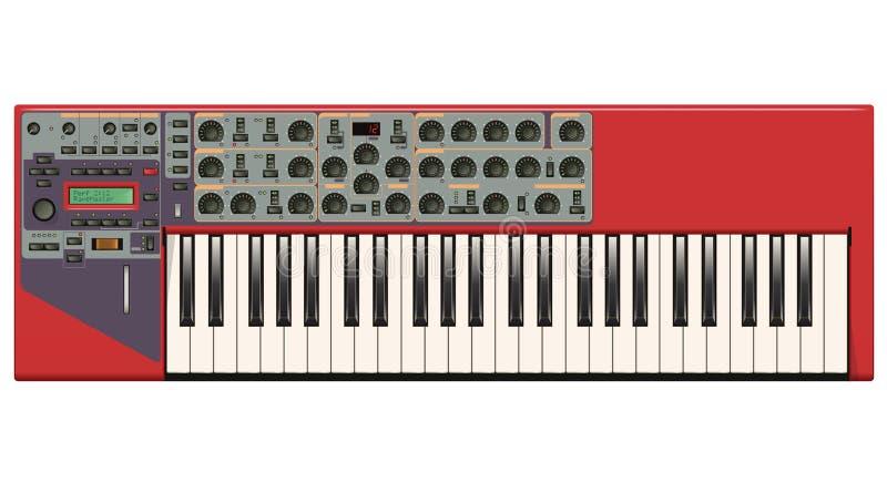 Sintetizador vermelho ilustração royalty free