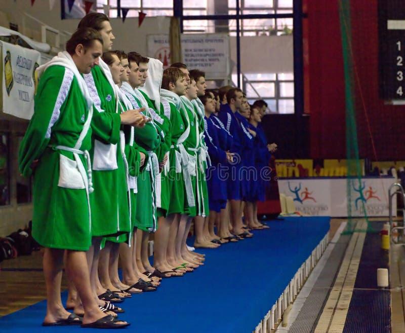 Sintez(Kazan) team of waterpolo royalty free stock photo