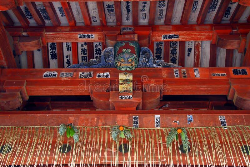 Sintoizm świątyni sufitu szczegół zdjęcie stock