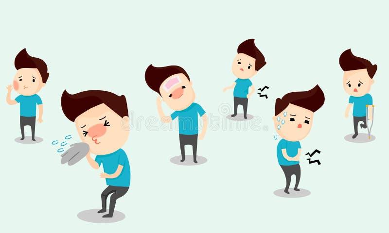 Sintomas da doença ilustração stock