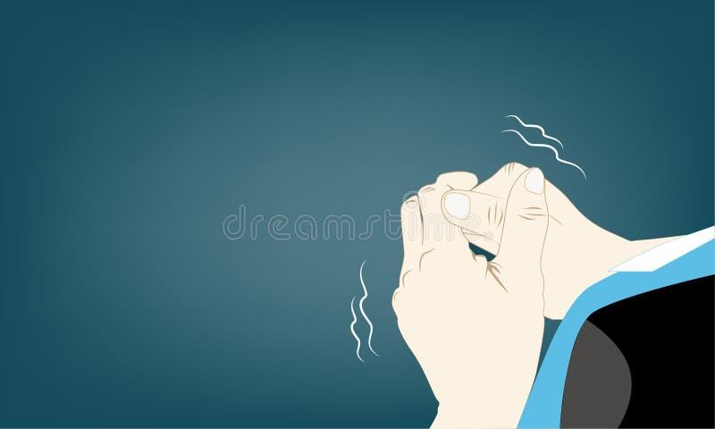 Sintomas de Parkison: agitação da mão automática ilustração do vetor