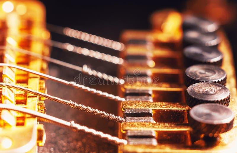 Sintonizadores de la multa de la guitarra eléctrica imágenes de archivo libres de regalías