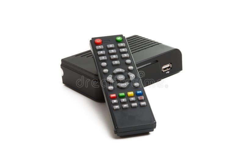 Sintonizzatore della TV isolato fotografia stock