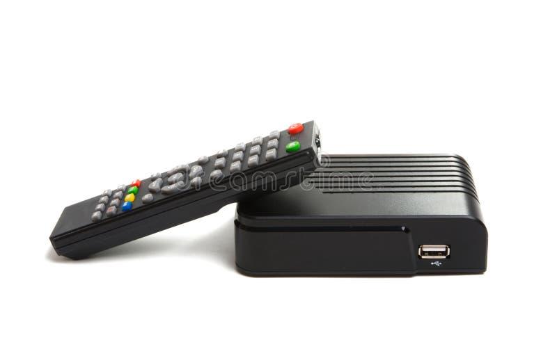 Sintonizzatore della TV isolato fotografia stock libera da diritti