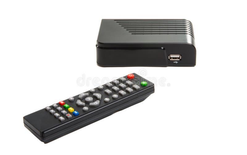 Sintonizzatore della TV isolato immagini stock