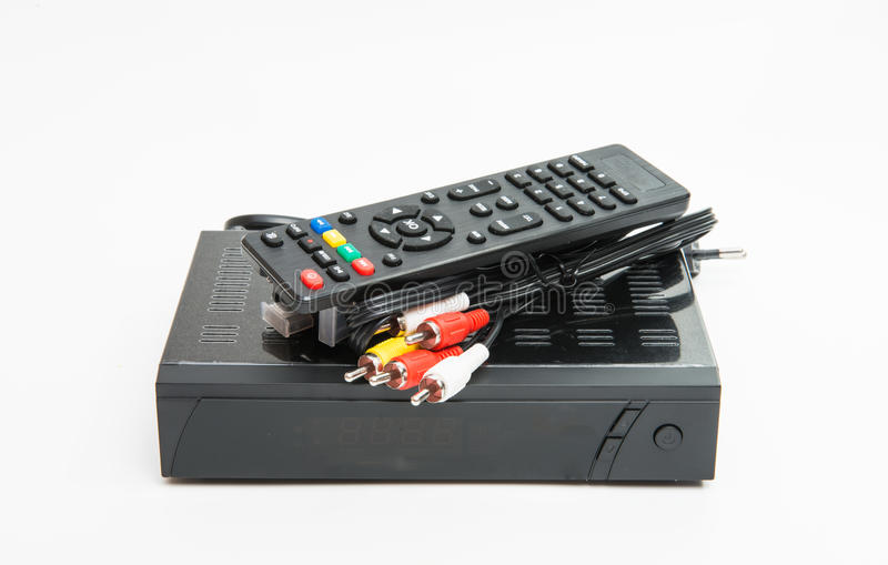 Sintonizzatore nero isolato fotografie stock