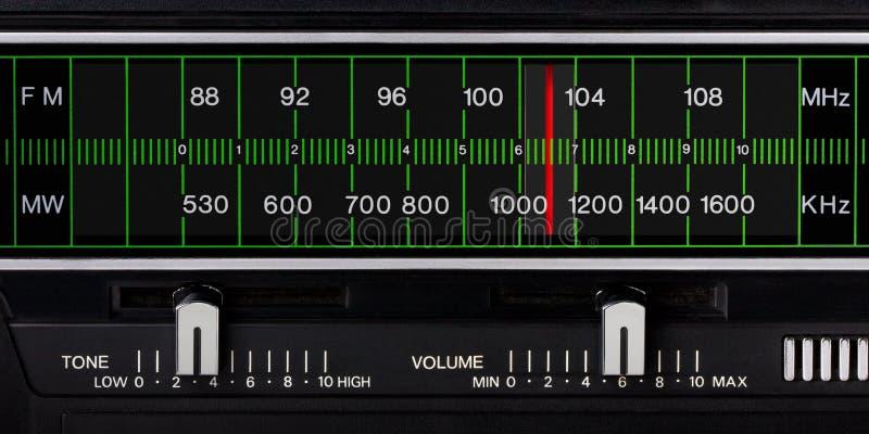 Sintonizzatore radiofonico dell'annata immagine stock