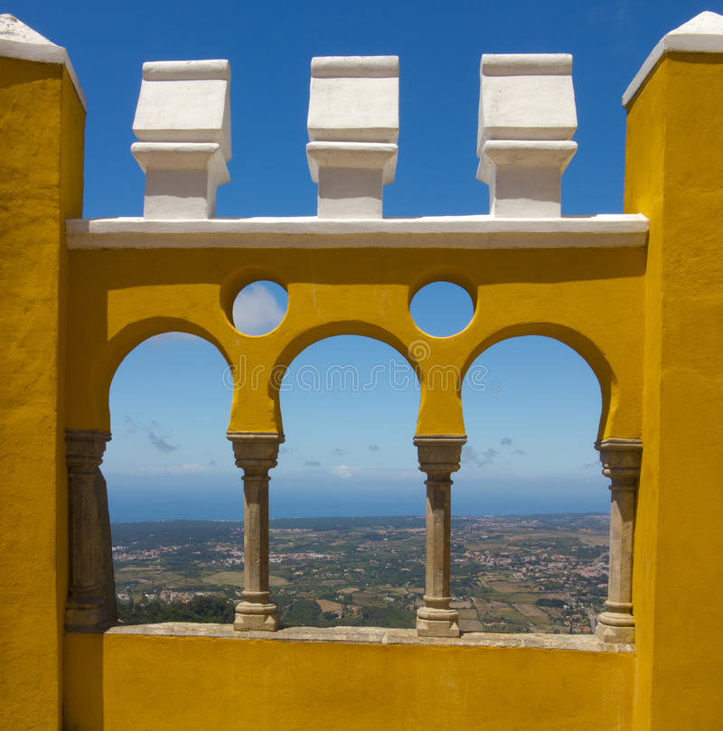 Sintra的Pena国家宫殿,葡萄牙 库存照片