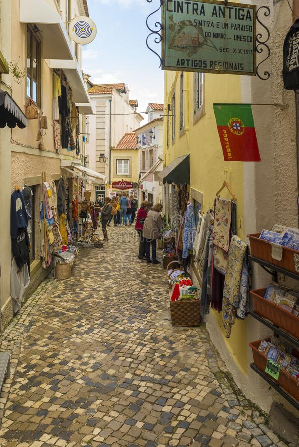 Sintra é um destino principal do turista em Portugal, famoso para seu picturesqueness e para o seu imagem de stock royalty free