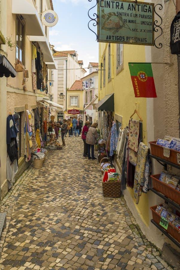 Sintra главное туристское назначение в Португалии, прославленной для своего picturesqueness и для своего стоковое изображение rf
