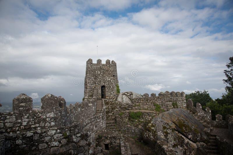 Sintra Castelo dos Mouros obrazy royalty free
