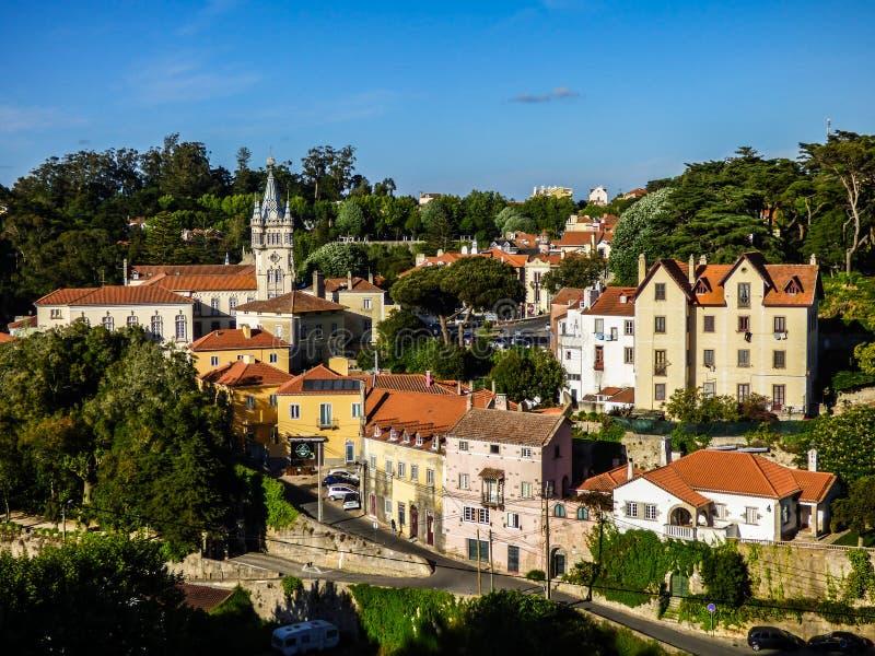 Sintra - den mest romantiska byn av Portugal royaltyfria bilder