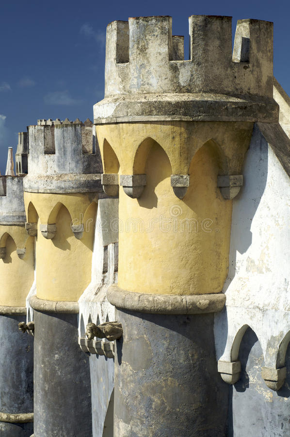 Sintra Palace. View of Sintra Palace in Portugal royalty free stock image